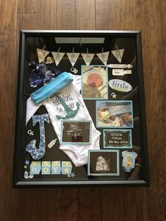 19 ideas for diy baby boy newborn shadow box Baby Boy Art, Baby Boy Gifts, Newborn Shadow Box, Diy Shadow Box, Baby Shadow Boxes, Shadow Frame, Baby Frame, Baby Box, Baby Memories