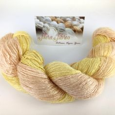"New: mega lace weight skein of hand spun bamboo yarn, in colourway ""Fruit Salad"". Perfect for summer!"