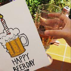 Free birthday printable -- Happy beerday!! // Tarjeta de cumpleaños gratuita!!
