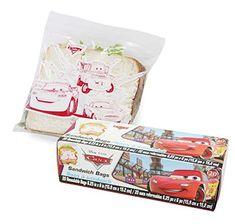 Disney Pixar Cars Sandwich Bags. One Box of 20 Bags (6.25 X 6) @ niftywarehouse.com #NiftyWarehouse #Geek #Gifts #Collectibles #Entertainment #Merch