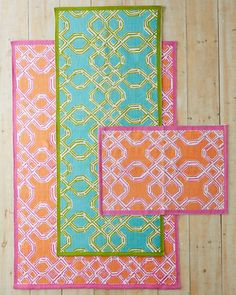 Lilly Pulitzer® Well-Connected Cotton Rug 2x3' $48 (need to check stock)