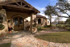 Mediterranean and Spanish Hacienda also translate to Hill Country style- just not modern Jauregui Architects