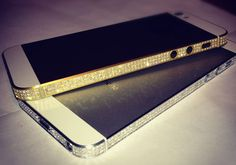 Diamond & Gold iPhone 5 by Amosu Smartphone, Diamonds And Gold, Iphone Accessories, Mobile Phone Cases, Cartier Love Bracelet, Apple Iphone, Gadgets, Luxury, Gifts