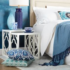 Want to bring the sea inside? Experiment with blue décor.