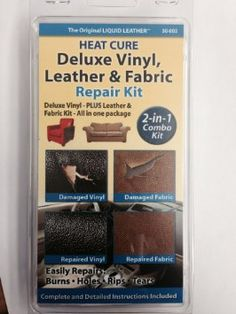 Liquid Leather Pro Leather and Vinyl Repair Kit Seats Leather Sofa Furniture NEW - organization for mom Leather Couch Repair, Leather Car Seats, Leather Sofa, Black Leather, Upholstery Repair, Furniture Repair, Sofa Furniture, Fast Furniture, Luxury Furniture