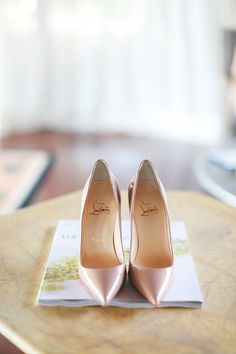 Dusty pink Christian Louboutin wedding shoes // Charlie and Cherlyns Wedding in Four Seasons Langkawi