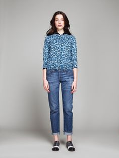 into the blue: new in season f/w 2013  #outfit #style #fashion #kiomi #dress #womansfashion #backtoblue  #leoprint #denim #jeans