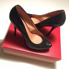 5|48 Classic Pointed Toe Black Stilettos Gently used black stiletto heels in size US 8.5/ EU 38.5. Pointed toe and in leather. A few minor scuffs and slightly fainted in color. No trades or PayPal. Offers welcome. Additional pictures available upon request. 5|48 Shoes Heels