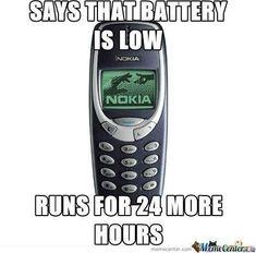 Nokia low battery Meme   Slapcaption.com