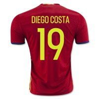 Spain National Team 2016 DIEGO COSTA #19 Home Soccer Jersey [C285]