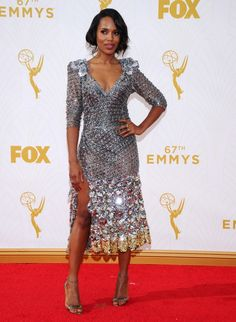 Kerry Washington at the 2015 Emmy Awards in Marc Jacobs Spring '16