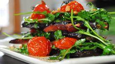 Millefeuille van aubergines en gedroogde ham Pascale Naessens