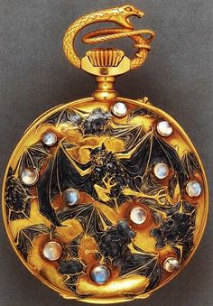 Gold Watch with Bats and Opals, by Rene Lalique. via Musetuch Visual Arts Magazine FB