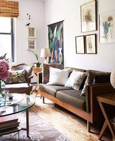 sofa remorse : living with a dark sofa | the handmade home