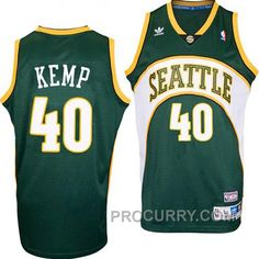 67955d063 Shawn Kemp Seattle Supersonics  40 Swingman Road Green Jersey