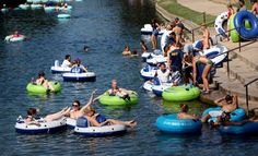 Tree-lined shores slip past spring-fed Comal River on leisurely two-hour float through waters, with free parking New Braunfels Tubing, New Braunfels River, Places To Travel, Places To Go, Texas Travel, Adventure Is Out There, Rafting, Family Travel, Family Vacations