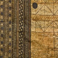 Rare early 19th century Samoan tapa cloth, the cloth a fusion ...