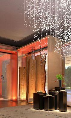东京大手町四季-顶级设计大师Jean Michel Gathy打造的新四季•奢华酒店圈又添重量级! Hotel Lobby, Divider, Curtains, Shower, Room, Prints, Furniture, Home Decor, Rain Shower Heads