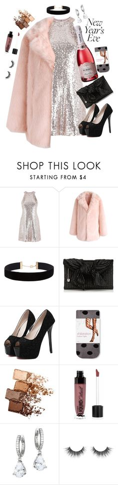 """""""New Years Eve 🍾🥂🎉"""" by pocketfullofglitter ❤ liked on Polyvore featuring Chicwish, Eloquii, WithChic, Maybelline, Wet n Wild and Kate Spade"""