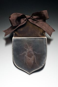 Medal for Endurance, oxidized etched copper, sterling silver, velvet, rayon ribbon, steel Leather Backpack, Fashion Backpack, Backpacks, Bags, Handbags, Leather Book Bag, Taschen, Women's Backpack, Purse