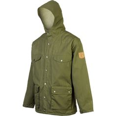 Fjallraven Greenland Winter Jacket ($240) ❤ liked on Polyvore featuring men's fashion, men's clothing, mens apparel and mens clothing