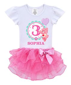 Another great find on #zulily! Love-a-Lot Bear Birthday Personalized Tutu Tee - Toddler & Girls #zulilyfinds