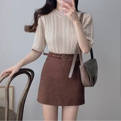Top Womens Fashion The Black Straight Skirt Girly Outfits, Classy Outfits, Skirt Outfits, Pretty Outfits, Vintage Outfits, Casual Outfits, Cute Outfits, Korean Fashion Trends, Asian Fashion