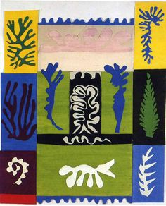 Henri Matisse, in later life, developed the technique of cutting paper, and was a genius in the newly created way of working. The paper was colored by painting with gouache.