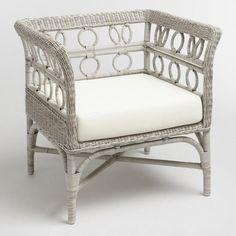 Graywash Handwoven All Weather Wicker Cassis Chair - v1