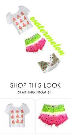 i love watermelon by mariannebg on Polyvore featuring Ally Fashion and shoes by J&C Creations.