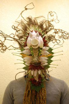 Masque floral.CFA Blagnac (France).