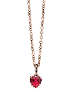 All your love is condensed in this 100% Amore charm on a rose gold chain by Dodo.