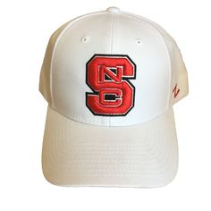 new style 5abd3 d3844 North Carolina State Wolfpack White Zephyr Competitor Block S Hat Nc State  Hats, North Carolina. Red and White Shop
