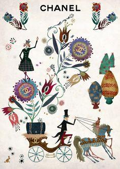 Illustration for Chanel.
