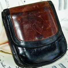 vintage leather wallet... Jun 04 K by CoolVintage on Etsy