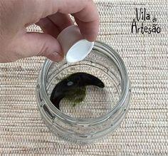 Despeje o solvente Mason Jar Meals, Meals In A Jar, Mason Jars, Decopage, Shimmer N Shine, Milk Cans, Cool Art, Diy And Crafts, Rings For Men