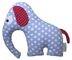 "KUSCHELTIER Elefant ""HENRY"" von LittleOne auf DaWanda.com Baby Toys, Kids Toys, Bean Bag Toys, Teddy Bear Toys, Patchwork Baby, Fabric Animals, Monster Dolls, Old Quilts, Fabric Toys"
