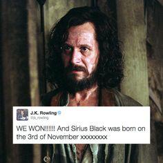 Sirius Black's birthday.