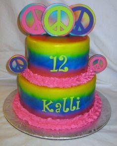 tye dye cake | Tye Dye Peace - by DoobieAlexander @ CakesDecor.com - cake decorating ...