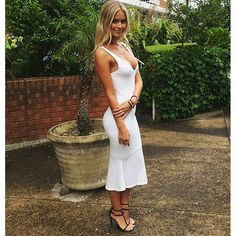 Renae Ayris in the Adeline Dress & brazillia heels