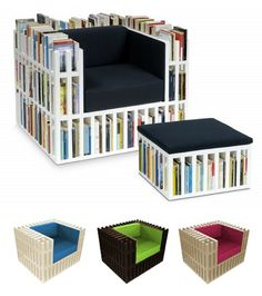 BOOK CHAIR @Alexis Feria -- arm rests would hurt but i expect you to have the ottoman in your library one day
