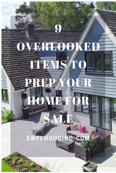 9 Overlooked Items to Prep Your Home for Sale.  It's tips can hopefully save you time and with saving time come saving money