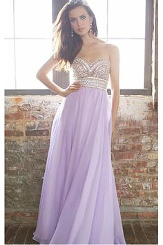 Gorgeous Sweetheart A-line Floor-length Chiffon Prom Dresses