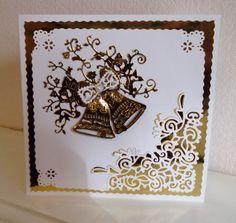 Brenda Saxon www.tatteredlace.co.uk Homemade Christmas Cards, Christmas Cards To Make, Xmas Cards, Homemade Cards, Aniversary Cards, 50th Anniversary Cards, Card Making Inspiration, Making Ideas, Wedding Shower Cards