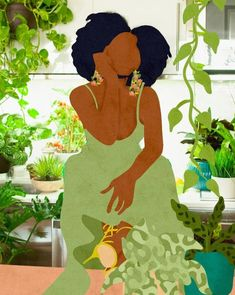 Black Love Art, Black Girl Art, Art Girl, Black Girl Aesthetic, Black Aesthetic Wallpaper, African American Art, African Art, Black Art Painting, Natural Hair Art