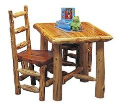 Kid's Log Table Set
