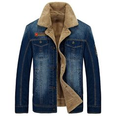 eb10116f6819 New Retro Warm Denim Jackets Mens Jeans Coats Winter Jackets Brand AFS JEEP  Thicken Denim Coat Men Outwear Male Asian Size men style     This is an ...