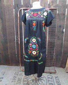 70s Mexican vintage dress Flower Garden by funkomavintage on Etsy