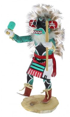 Native American Navajo Ahote Warrior Kachina Doll www.silvertribe.com
