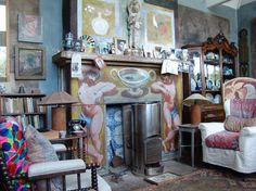 (Image source: Clive Birch) Charleston House in East Sussex. The interior was painted by Duncan Grant and Vanessa Bell and caputured the essence of their creative and uninhibited ideals.